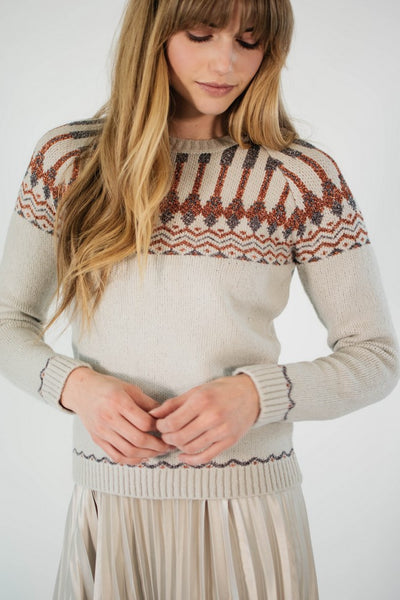 Ellie & June California Moonrise Fair Isle Sweater