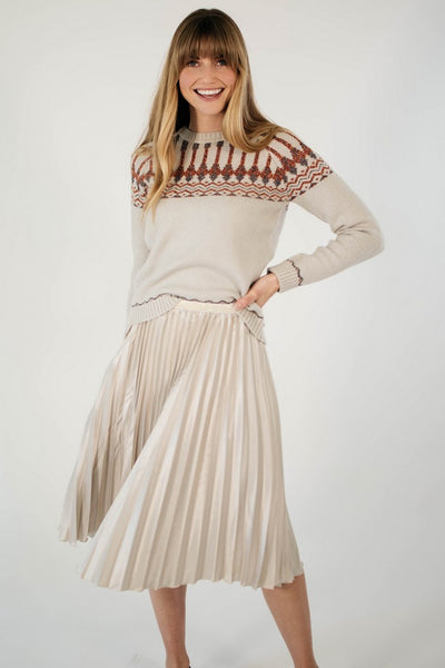 Ellie & June California Moonrise Pleated Midi Skirt