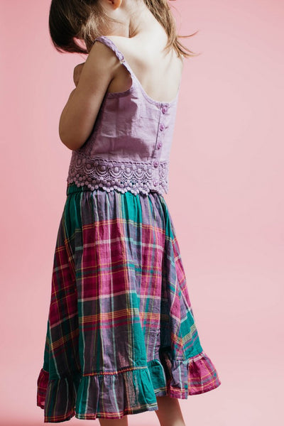 Ellie and June Pink Chicken Portia Skirt