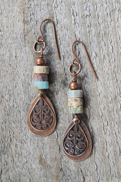 Ellie and June Boho Beaded Earrings