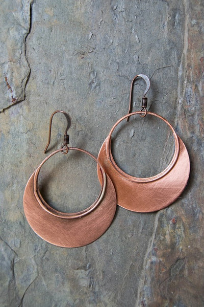 Ellie and June Copper Earrings
