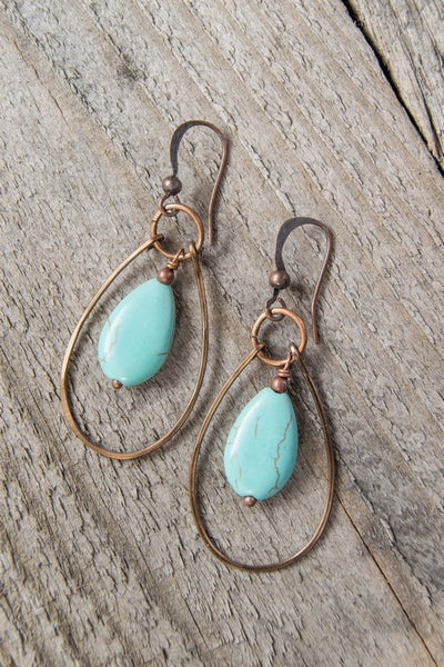 Ellie and June Boho Turquoise Earrings
