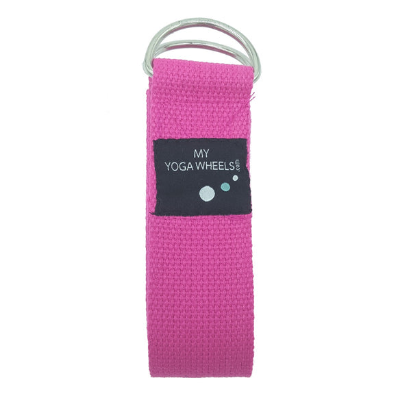 Yoga Strap (Pink) - MyYogaWheels - buy yoga wheel and accessories online