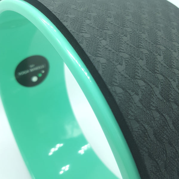 Green + Black Yoga Wheel
