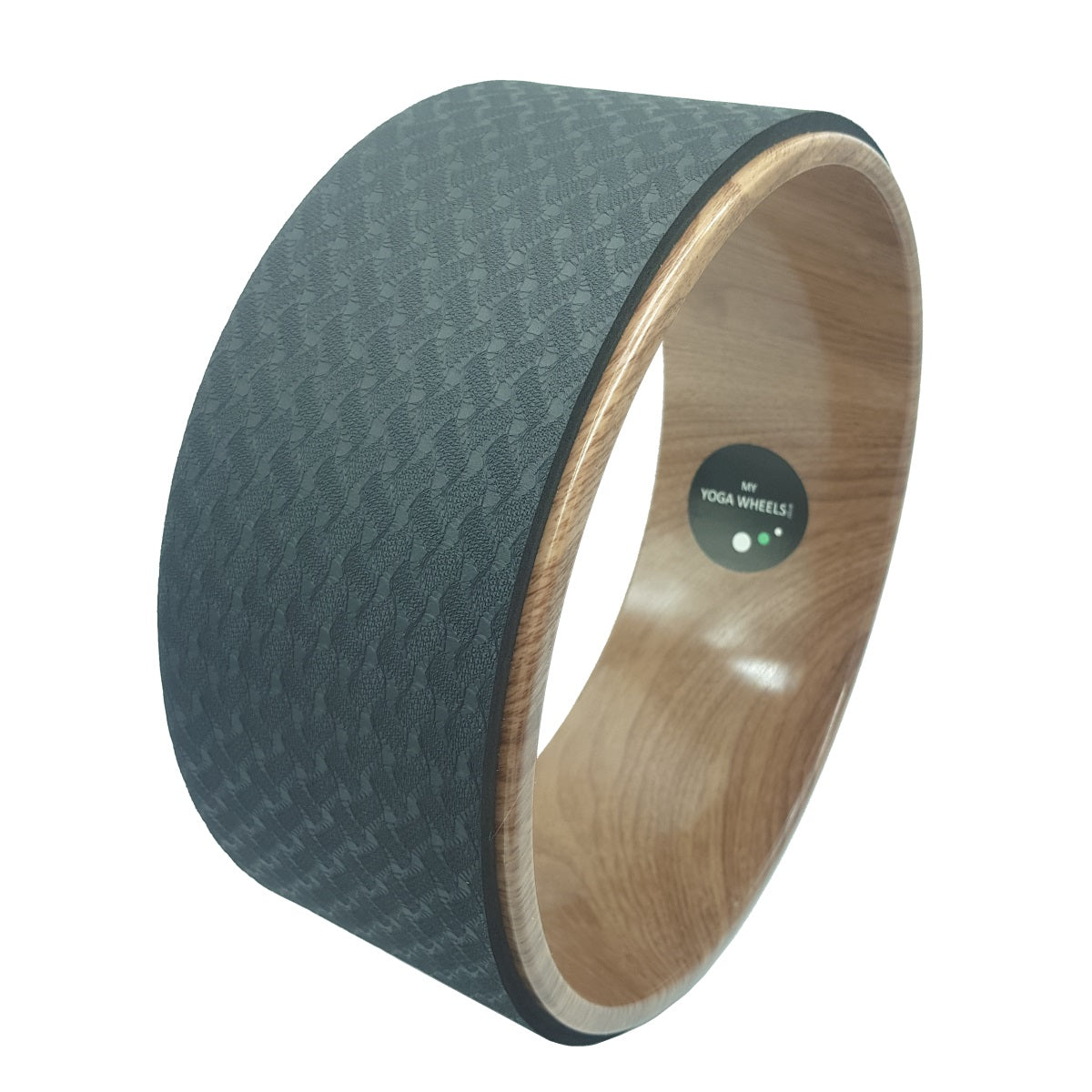 Wood Effect + Black Yoga Wheel - MyYogaWheels - buy yoga wheel and accessories online