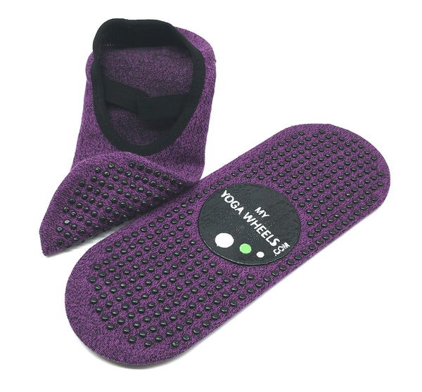 Yoga Socks - Purple (2 pairs) - MyYogaWheels - buy yoga wheel and accessories online