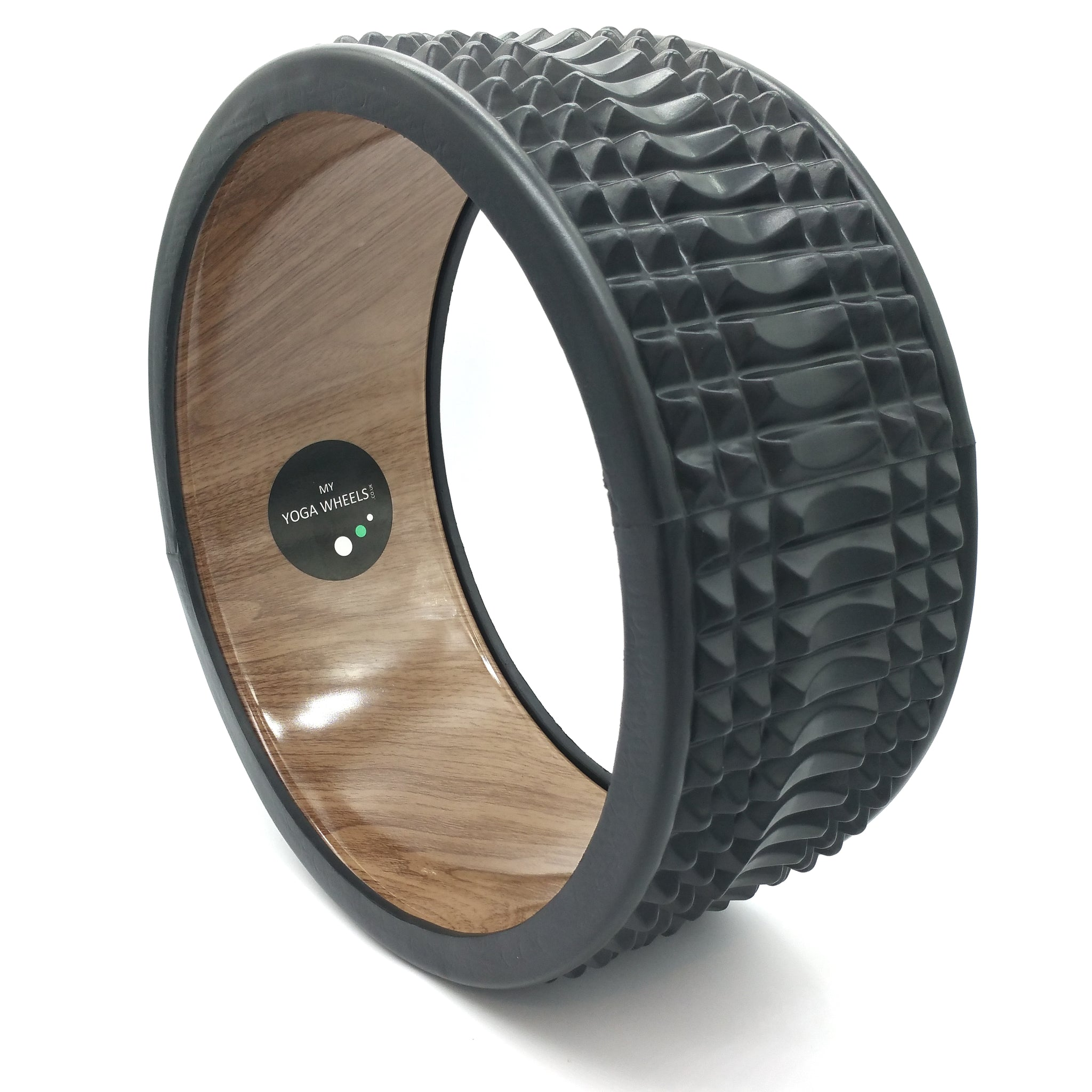 Trigger Point Yoga Wheel - Wood + Black - MyYogaWheels - buy yoga wheel and accessories online