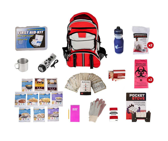 1 or 2 Person Basic Survival Kit + Food