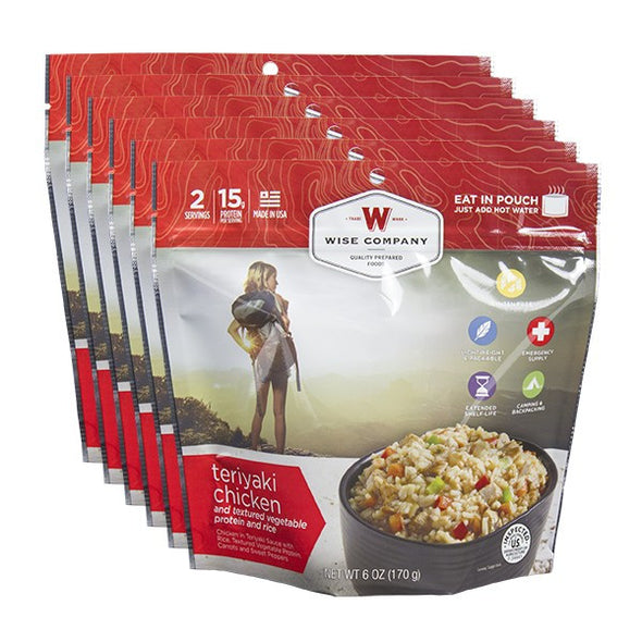 6ct Pack - Outdoor Teriyaki Chicken & Rice From ESS
