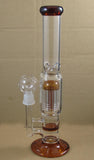 Zaf Dual Honeycomb 9 Arm Tree Percolator Glass Water Pipe
