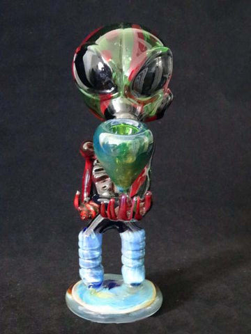 Alien Art Glass Bubbler Pipe