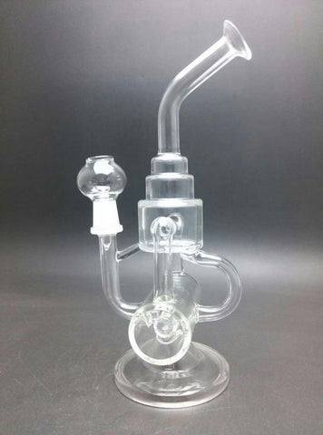 Tower Recycler Glass Water Pipe