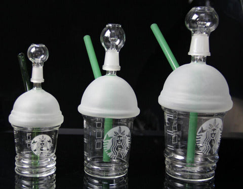 Starbucks Dabuccino Cup Glass Water Bong Pipe