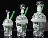 Starbucks Frosted Dabuccino Cup Glass Water Bong Pipe