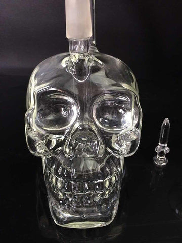 Crystal Skull Water Bong Pipe