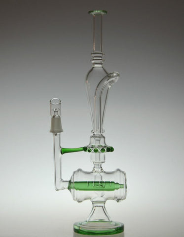 Hunter Inline Percolator Recycler Glass Water Pipe