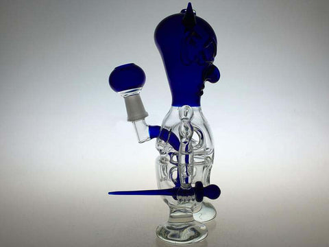 Tiny Satan Percolator Glass Water Pipe