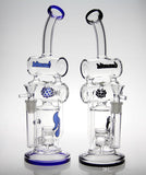 HitMan Triple Chamber Recycler Glass Water Pipe