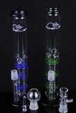 Mobius Triple Honey Comb Percolator Glass Water Pipe
