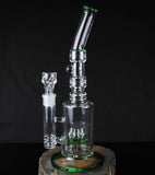 Pulse Matrix Percolator Glass Water Pipe