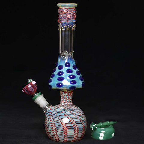Fat Mushroom Glass Water Pipe Oil Rig