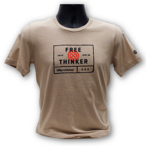 UNprohibited Free Thinker Tan TShirt