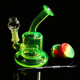 Green Lantern Percolator Glass Water Pipe