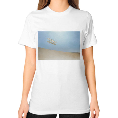 Unisex T-Shirt (on woman) White Retronaut