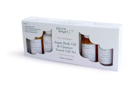 Green Angel Argan Body Oil & Cleanser Travel Set