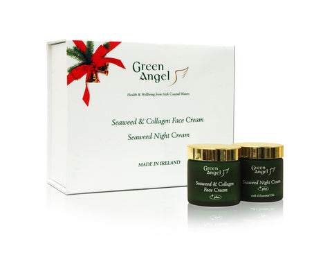 Green Angel Christmas Facial Gift Set Collagen and Night Cream