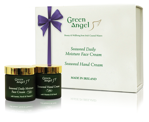 Green Angel Purple Ribbon - Hands and Face  Beauty  Gift