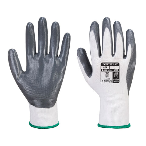 Flexo Grip Nitrile Glove Grey/White - A310