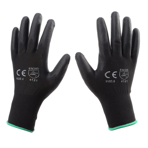 PU Precise - Black PU Coated Nylon Gloves