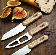 Nosh 3 Piece Oak Handle Cheese Knife Set - Genii Retail Therapy Ltd - 1