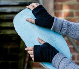 Recycled Cashmere Fingerless Gloves & Wrist Warmer by Turtle Doves - Genii Retail Therapy Ltd - 7