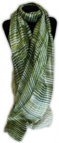 Luxury Handcrafted Batik - Natural Autumn/ Green Stripes - Genii Retail Therapy Ltd - 2