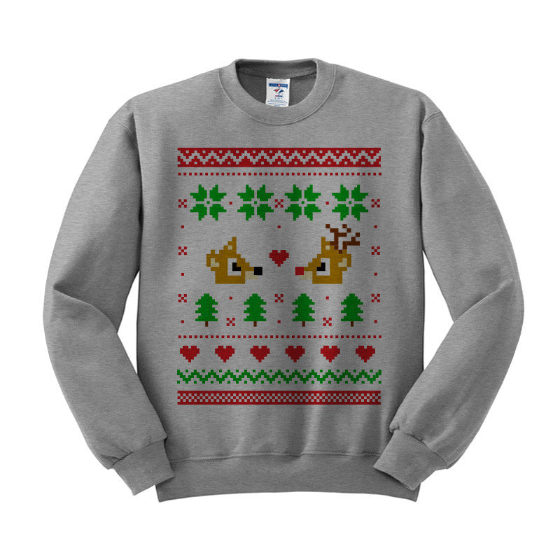 Hedgehog Christmas Sweater.Rudolph And Clarice Christmas Sweater Crewneck Sweatshirt