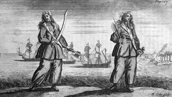 Anne Bonny and Mary Read, notorious female pirates