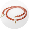 UV awareness beaded necklace in sunstone