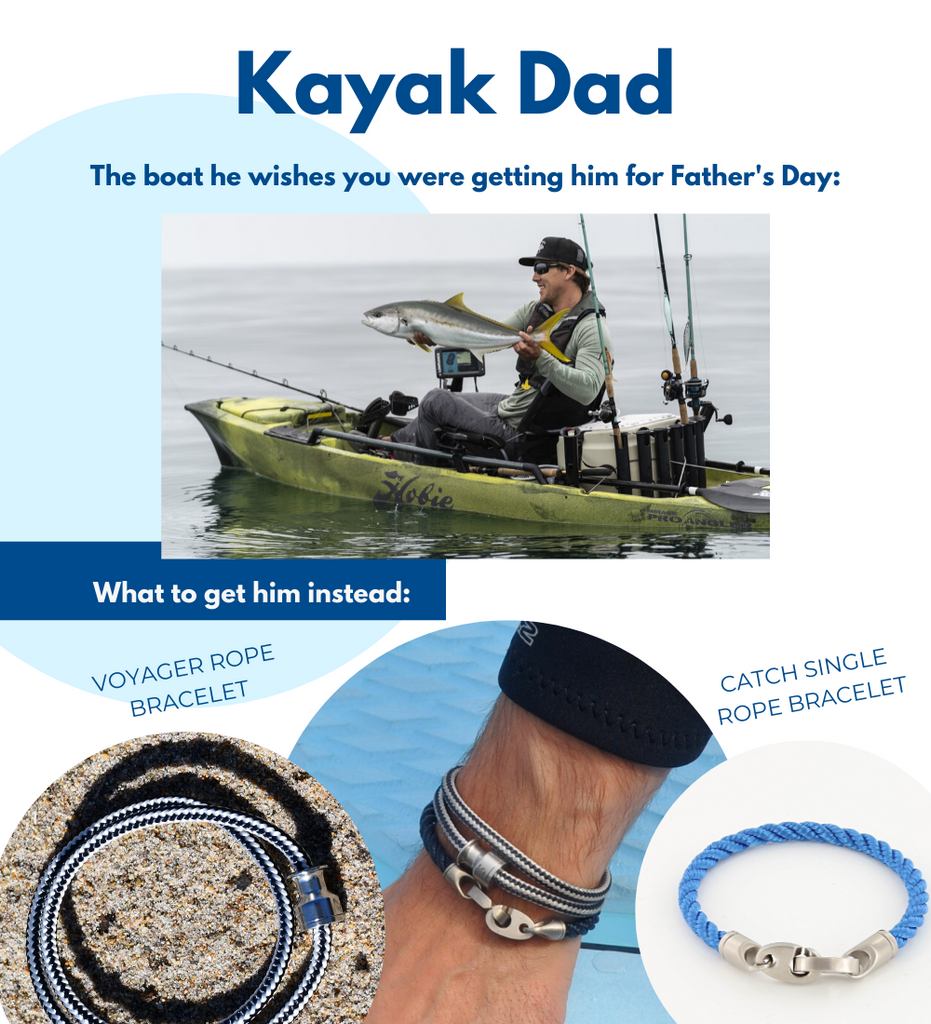 Fathers Day gifts for boaters including voyager stainless steel rope bracelet catch single rope bracelet for men