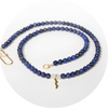 rayminder uv awareness beaded necklace in lapis lazuli