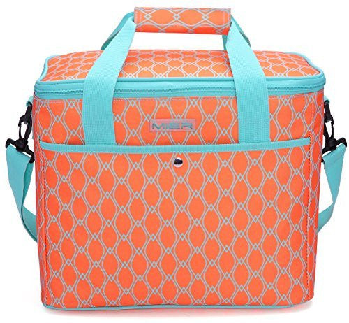 Mier Large Soft Cooler Coral and light blue