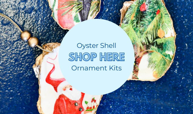 Shop the Sailormade decoupage oyster shell ornaments kit