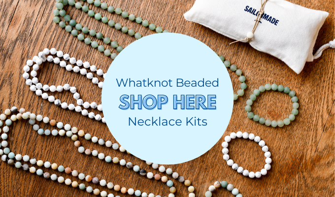 shop whatknot beaded bracelet and necklace kits here