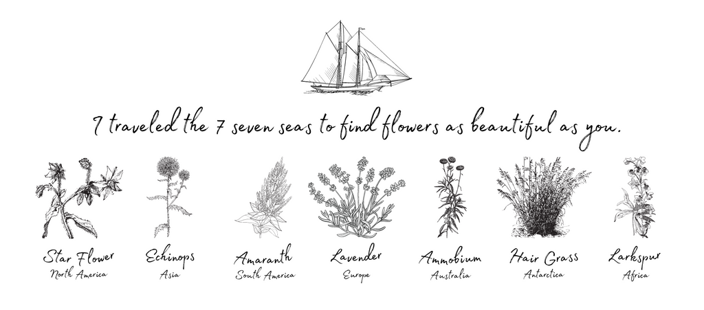 bouquet of flowers from the seven seas