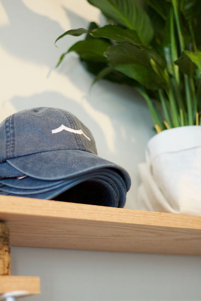 Sailormade Signature Hat in Faded Navy with white embroidery
