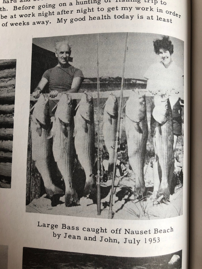striped bass fishing 1953 pleasant bay chatham, ma