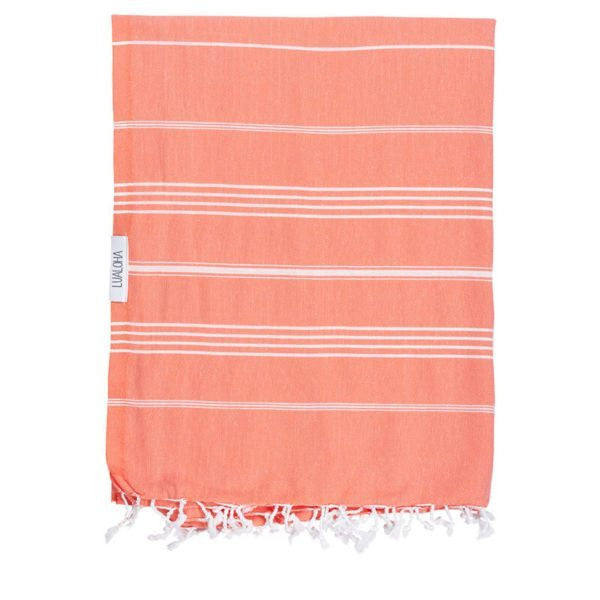 Lualoha Turkish Towels Classic Coral