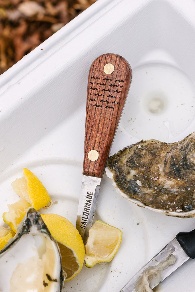 sailormade oyster shucker knife with wooden handle