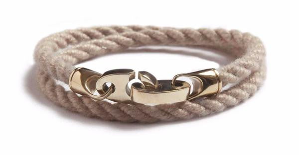 Sailormade Wheat Endeavour Double Rope Bracelet